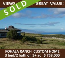 Amazing Value in Kohala Ranch!