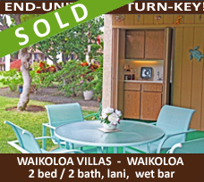 Sold Waikoloa Villa End Unit